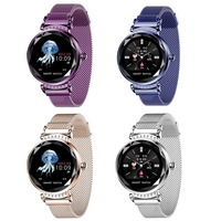 Lady H2 Smart Watch 3D Rhinestone Glass Heart Rate Blood Pressure Sleep Monito