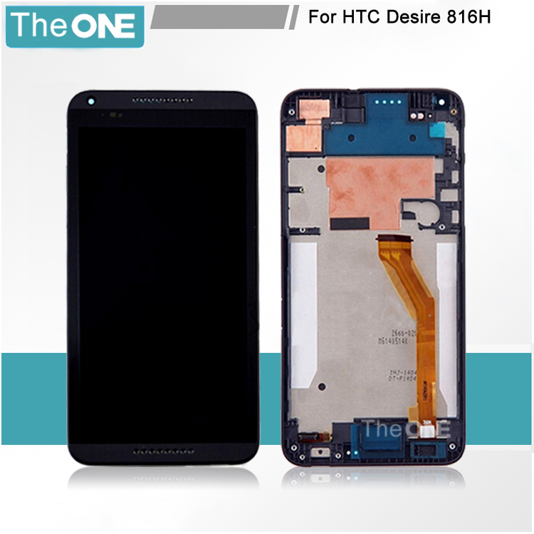 LCD Display Digitizer Touch Screen Assemblely Frame For HTC Desire 816G Desire 816H D816G D816H Free ship,1pcs/lot