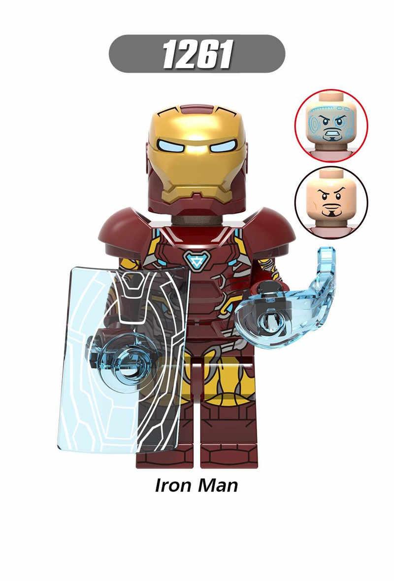 Figuras Vingadores Super Heroes Capitão Marvel Homem De Ferro Thor Figuras Building Blocks Brinquedos para Crianças Crianças