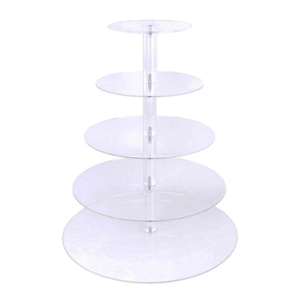 5 Layers Acrylic Cake Cupcake Display Stand ew Assemble and Disassemble Round Cupcake Cake Stand For