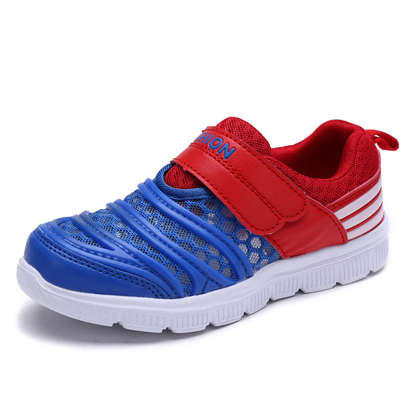 Summer New Boys Shoes Tennis Comfortable For Children Hollow Cool Air Mesh Shoes Breatha ...