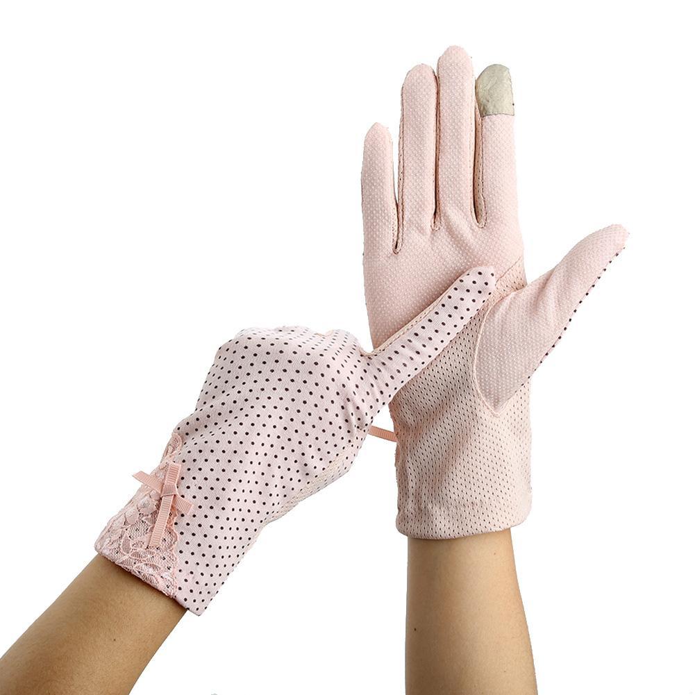 Women Lace Sun-proof Gloves Driving Non-slip Thin Gloves Women's Touch Screen Gloves Women Lace Sun-proof Gloves Summer