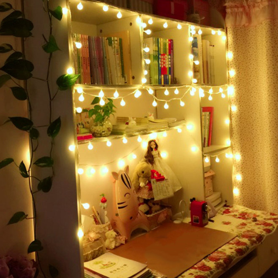 Thrisdar 100 m 800LED del Globo della Sfera Di Natale LED Leggiadramente Della Stringa Della Luce Esterna Giardino Patio Cortile Festa di Nozze Globo di Luce Fata - 3