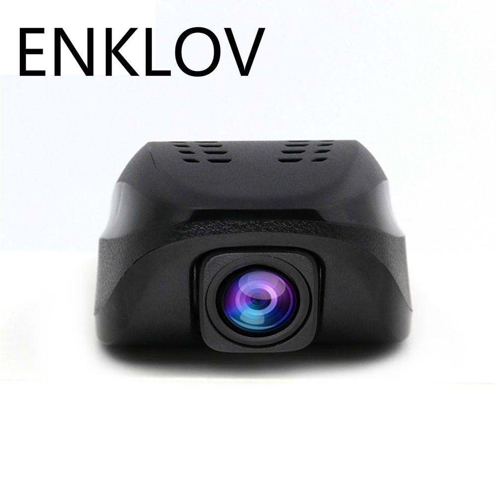 ENKLOV Night Version Dual Camera Lens Registrator Dashcam Digital Video Recorder Camcorder Full HD 1080P Car Dvr WIFI DVRs quidux dual lens full hd 1080p car dvr wifi dash cam super night vision registrator video camera recorder novatek 96655 imx 322