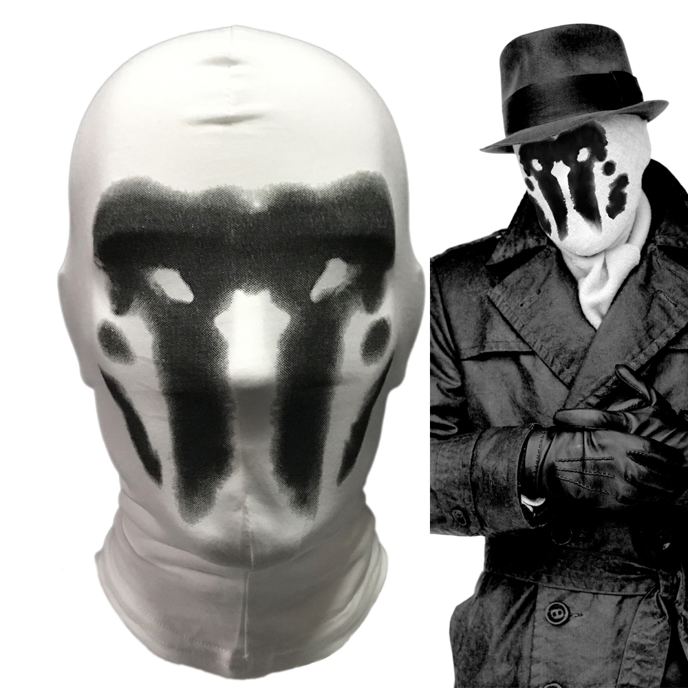 Cute Watchmen Rorschach Mask Cosplay Costume Full Face