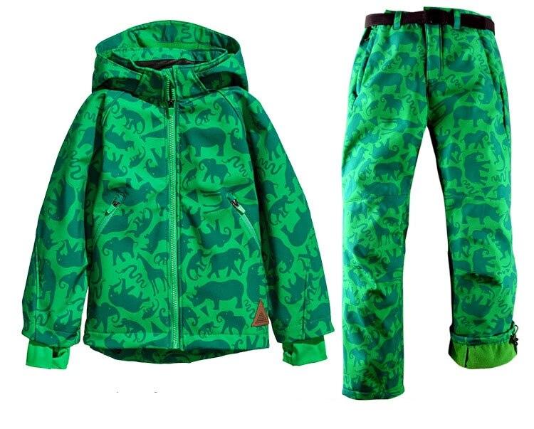 2017 Winter Children Kids girl boy outdoor skiing Snow suits jacket+pants set windproof waterproof brand ski jackets pantssuits