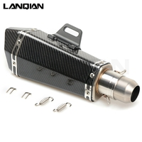Для Unversal36 51mm выхлопной трубы мотоцикла глушитель трубы лазерная маркировочная наклейка из нержавеющей углеродного волокна