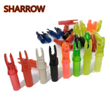 50Pcs Archery Plastic Arrow Nocks Insert Nock Pin Tails Replacement ID 6.2mm Shaft Outdoor Hunting Accessories