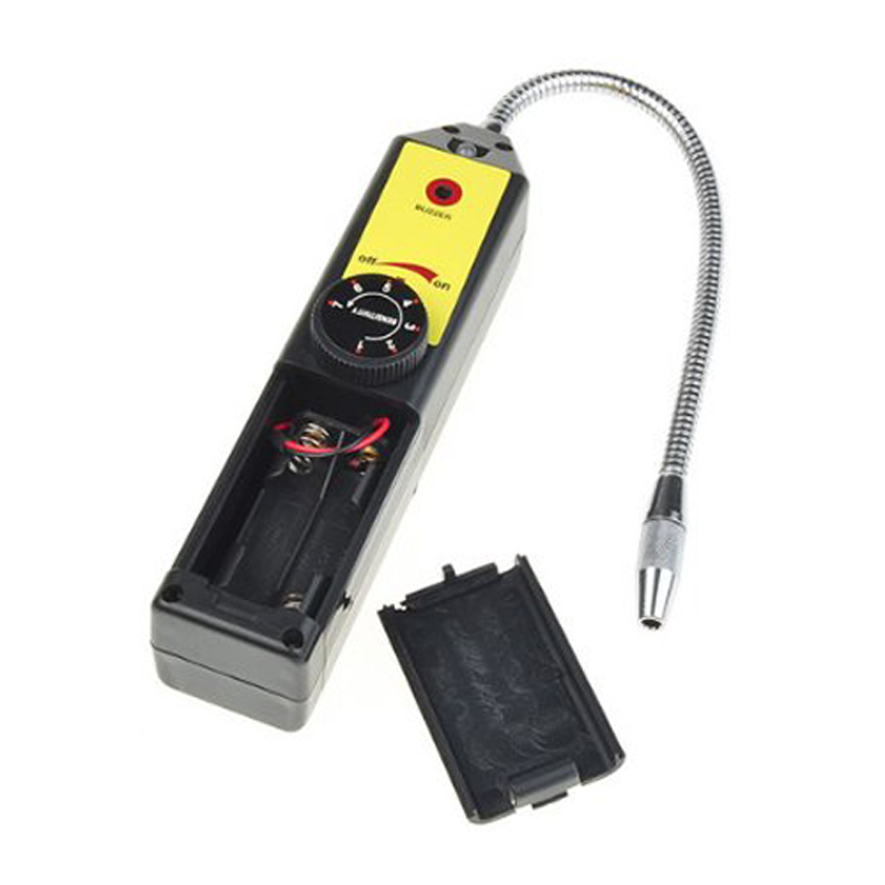 Refrigerant Halogen Freon Leak Detector A/C R134 R410a R22 Air Gas HVAC Tool Black a c leak test device asia version 1020