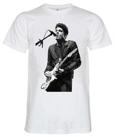 Billige T-shirts 100% Baumwolle John Mayer Live-konzert Rockmusik Unisex T-Shirt Mit Rundhalsausschnitt Kurzarm Herren T