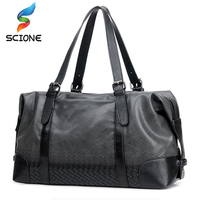 2017 Hot Large Capacity Top PU Leather Sports Gym Bags Crossbody Bags Training Fitness Messenger Bags