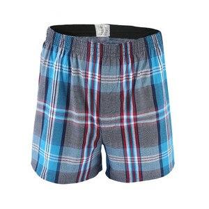 Image 5 - 5 Pcs Heren Ondergoed Boxers Shorts Casual Katoen Slaap Onderbroek Kwaliteit Plaid Losse Comfortabele Homewear Gestreepte Pijl Slipje