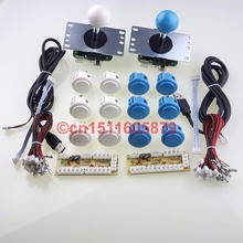 Zero Delay USB PC Encoders + Sanwa OBSF-30 Arcade Push Buttons + Sanwa Joysticks For Mame Games & For Windows Systems & Video