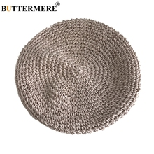 BUTTERMERE Beige Sun Hat Straw Women Summer Casual Elegant Ladies Beret French Style Fashionable Spring Vintage Painters