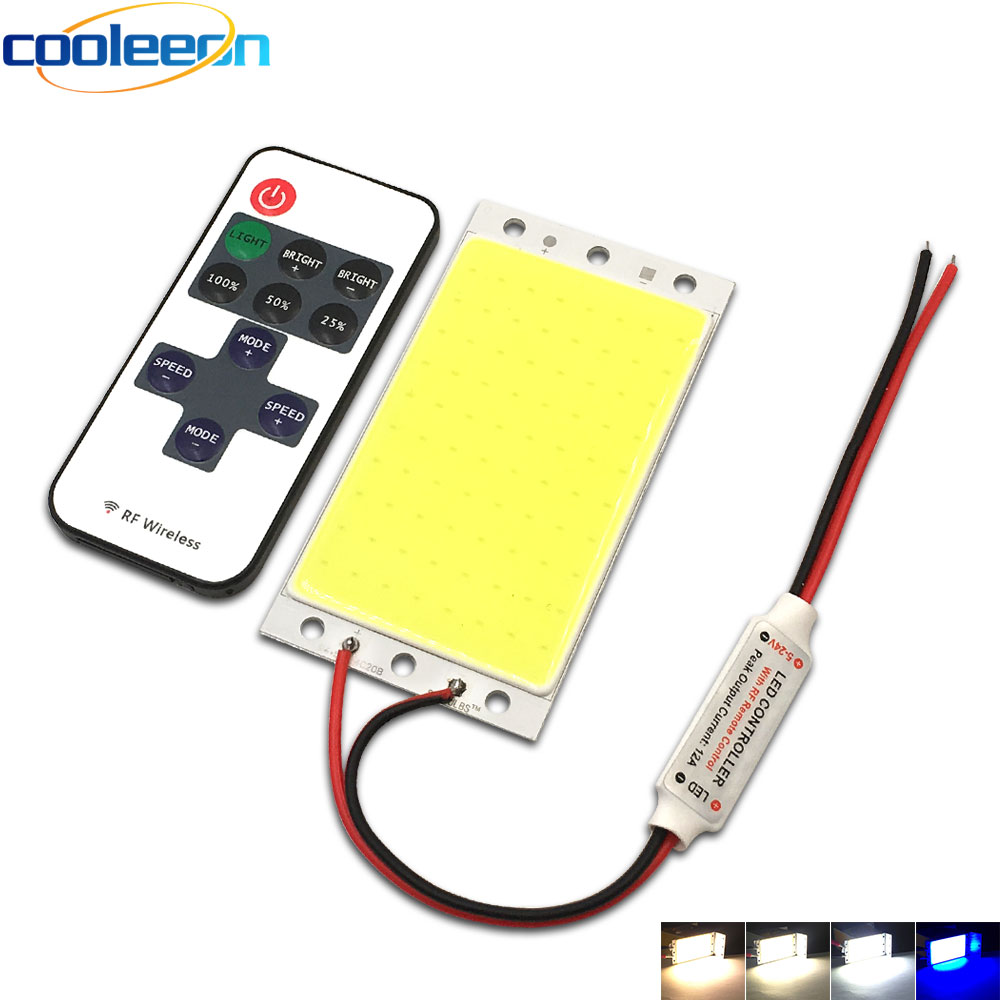 12V 15W COB LED Panel Light with Dimmer Controller 1500LM Warm Nature Cold White DC12V Dimmable LED Bulb for Car Work Decor Lamp
