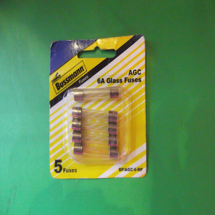 Lot of 2 Fuses *FREE SHIPPING* Buss AGC-5