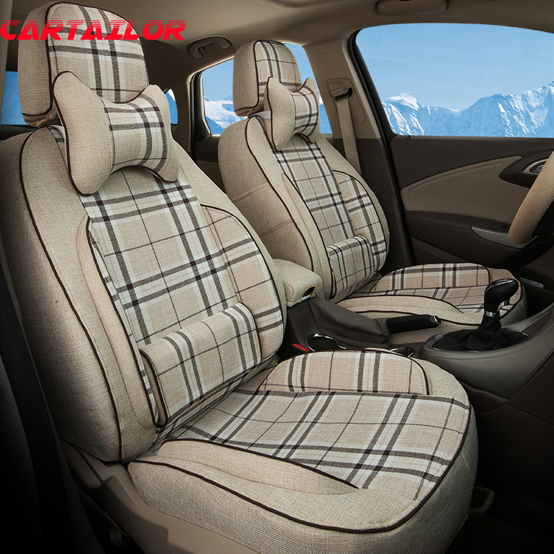 Cartailor Linen Cloth Seats Protector Fit For Hyundai Tucson 2016 2015 Car Seat Covers Supports Auto Styling Seat Cushions Set Seat Protector Seat Coverseat Covers Supports Aliexpress