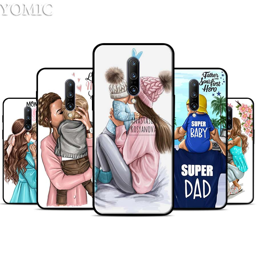 Mom and baby Silicone Case for font b Oneplus b font font b 7 b font