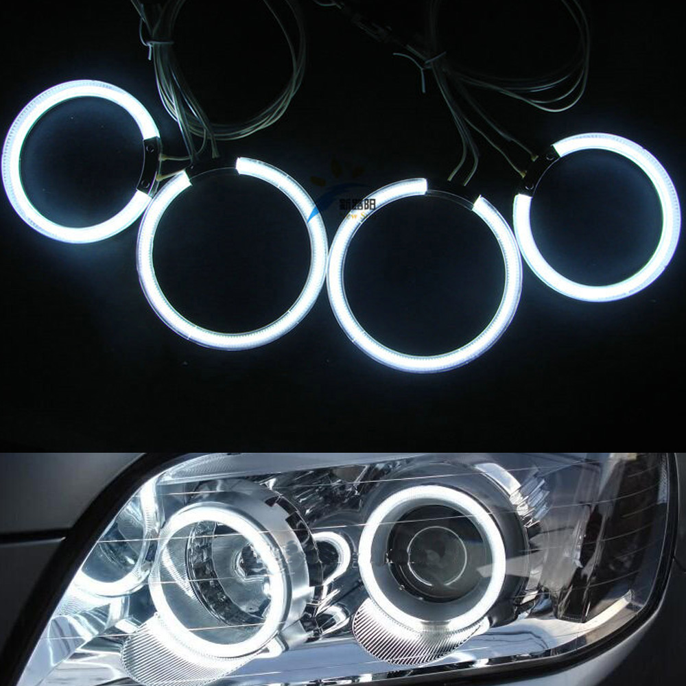 4Pcs/set Super White Blue Red Yellow Green Bright CCFL Angel Eyes Halo Rings Kit For Lada Priora(VAZ 2170/2171/2172)
