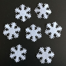 500PCS 2 5 CM Non Woven White Snowflake Christmas home indoor Decoration Merry Christmas ornament