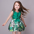 Summer Green Dresses For Teenages Baby Girls Bow Costume Ball Gown Princess Party Dress Infant Kids Clothes For Girl 8 Years Old
