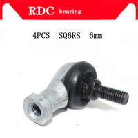High quality 4pcs/lot SQ6 RS SQ6-RS 6mm Ball Joint Rod End Right Hand Tie Rod Ends Bearing SQ6RS Free Shipping