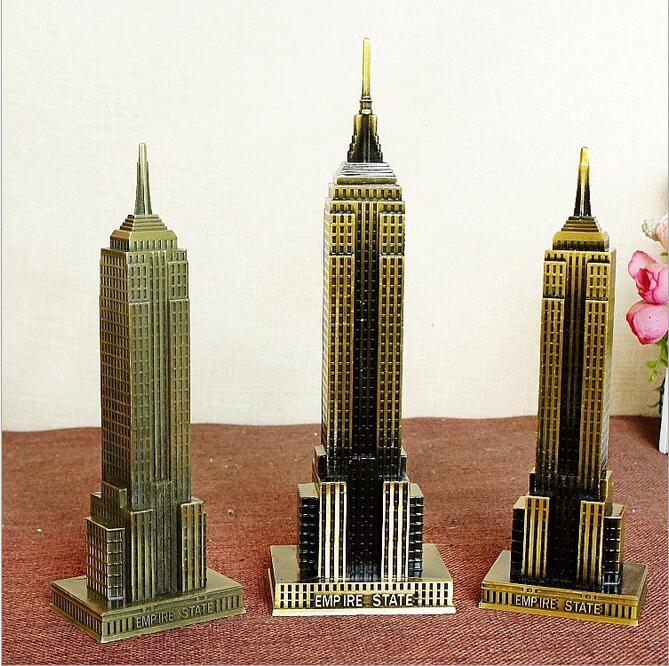 18-22cm World Famous Empire State Building Model Bronze Craft 3D - Heminredning - Foto 2