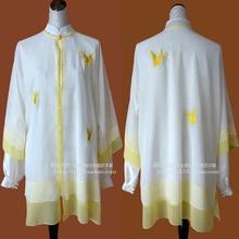 Customize Chinese Tai chi clothing Martial arts taiji performance shawl wushu dragon embroidered for women children girl boy men