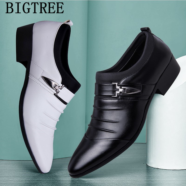 Italian Fashion Elegant Oxford Shoes For Mens Shoes Large Sizes Men Formal Shoes Leather Men Dress Loafers Man Slip On Masculino 6