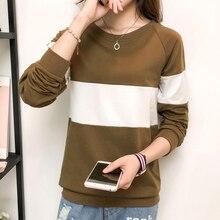 Shintimes Tee Shirt Femme Camisetas Mujer Poleras De Moda 2019 T Long Sleeved Cotton Tshirt Women T-Shirt Plus Size
