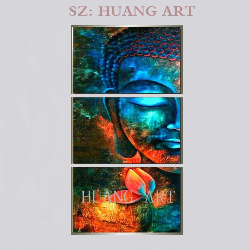 Venda hand-painted pintura a óleo bodhisattva Buddha Tailandês grande mural pintura decorativa salão do templo