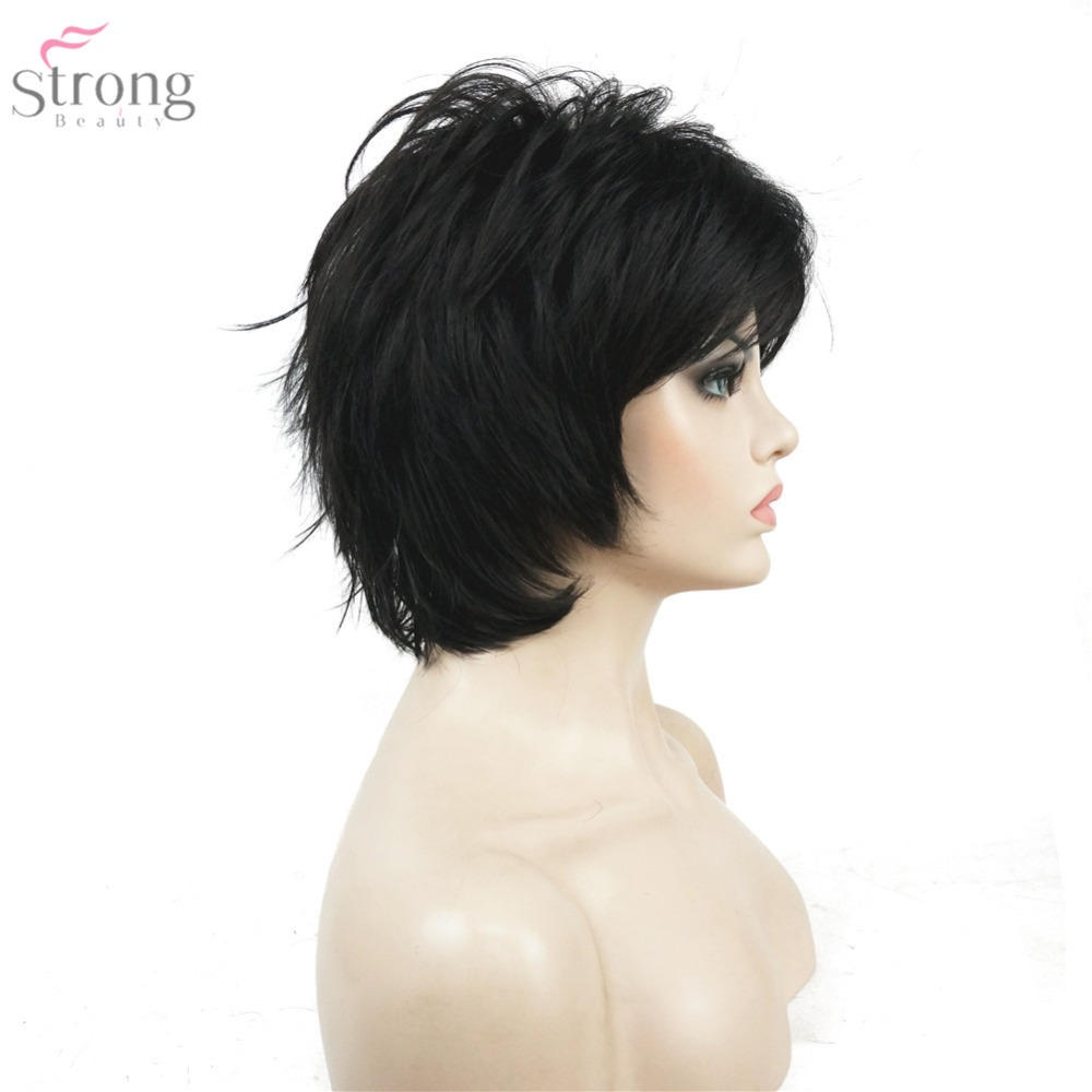 StrongBeauty Περούκα Γυναικών Μαύρο / - Συνθετικά μαλλιά - Φωτογραφία 3