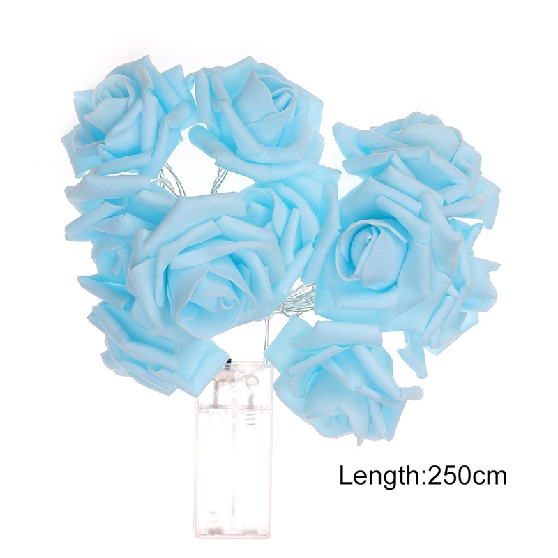 HOT SALE Battery Operated LED Rose Flower Christmas Holiday String Lights For Valentine Wedding Decoration 10/20 LED Lamp