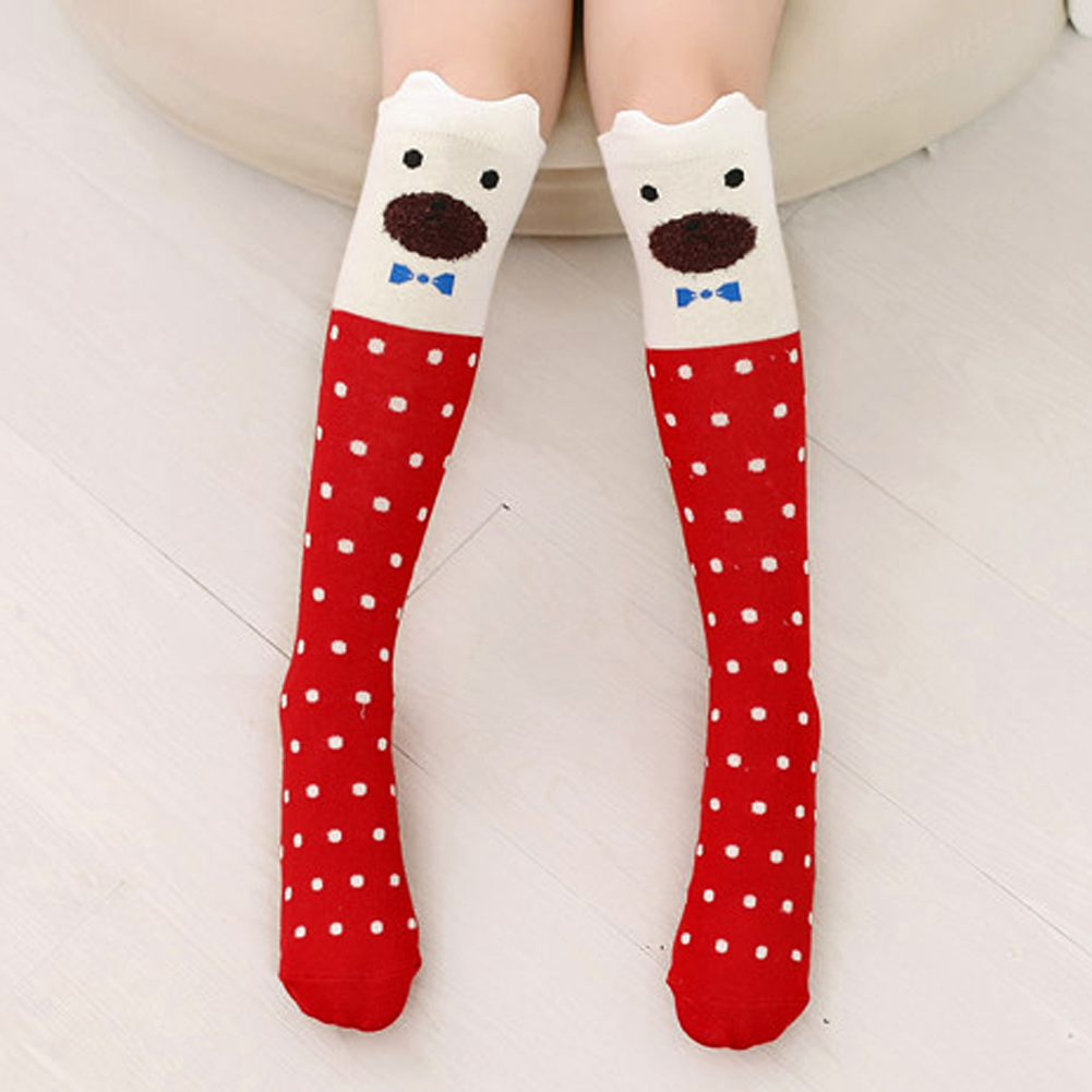 Cartoon Cute Children Stockings Print Animal Cotton Kids Girls Knee High Long Fox Stockings Toddler Baby Tights Stockings cute baby kids girls cotton fox tights носки штаны штаны чулочно носочные изделия колготки