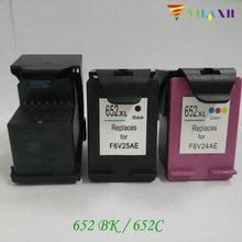 For HP652 Ink Cartridge for HP 652 xl 652xl Deskjet 1115 1118 2135 2136 2138 3635 3636 3835 4535 4536 4538 4675 4676 4678 2pcs xiongcai compatible ink cartridge for hp 652 deskjet 1115 2135 2136 2138 3635 3636 4536 4535 printer cartridge for hp652