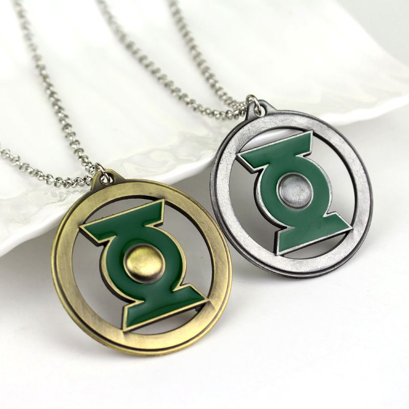 Wholesale Dc Comics The Green Lantern Chain Necklace Pendant Justice
