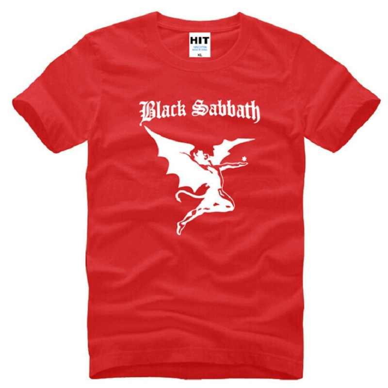 4a4c15f17119 ... New Designer Black Sabbath Logo T Shirts Men Cotton Short Sleeve Heavy  Metal Rock Band Men's ...