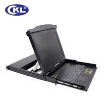 CKL-1708VUP 17″ 8 Port VGA LCD KVM Switch with USB PS/2 1U Rack Mount Switcher for PC Keyboard Mouse Server 1280×1024