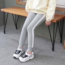 купить New Fashion Girls Pants Patchwork Side Striped Pants Spring Summer 4-10y Children Leggings Girls Pencil Pants Elastic Trousers онлайн