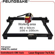 Полная мощность 7 Вт лазерная резка машина ttl PMW управление 1*1 м размер работы, 5,5 Вт 15 Вт лазерная гравировка машина, устройство для лазерной резки ЧПУ