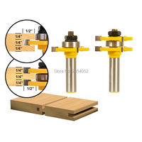 1 2 Shank Matched Tongue And Groove Router Bit 2 Pc Set W Set Wood Milling