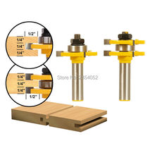1/2″ Shank Matched Tongue and Groove Router Bit- 2 pc. Set w/ Set Wood Milling Cutter flooring knife