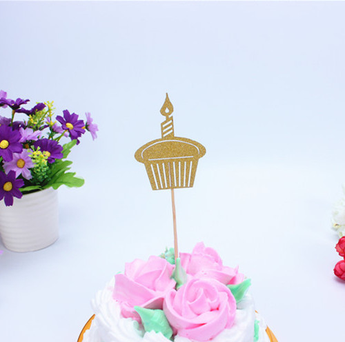 1pc Multi Colors Happy Birthday Cake Flag Topper Cake Candle Flags For Wedding Birthday Party Cake Baking Decoration Supplies in Cake Decorating Supplies from Home Garden