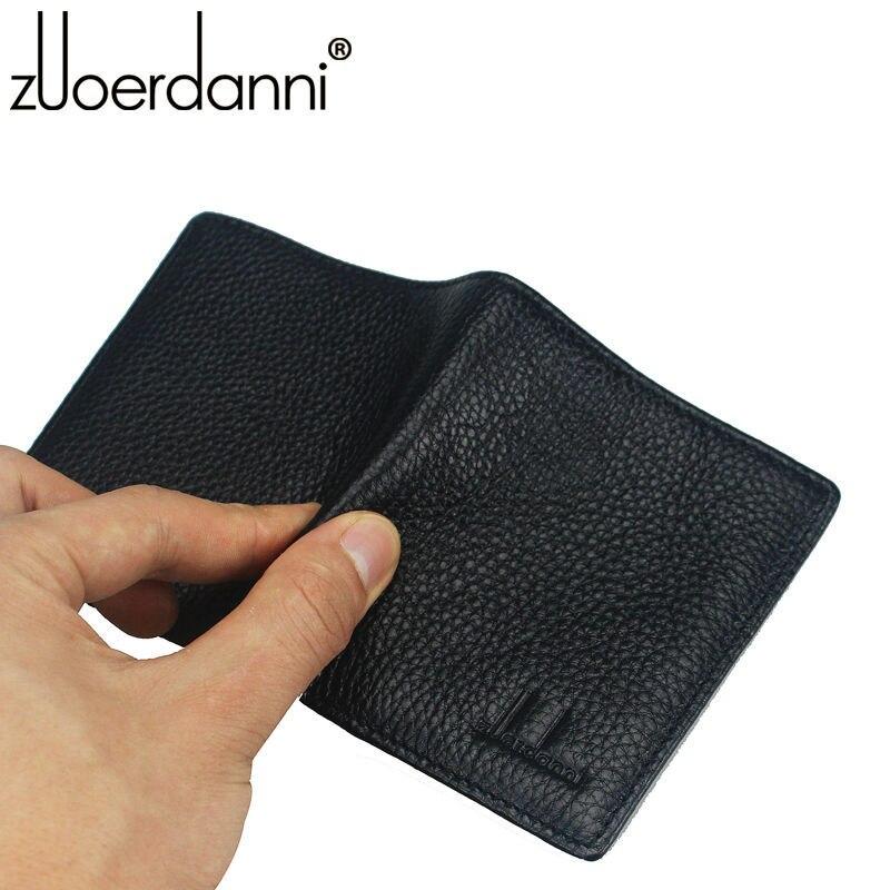 Купить с кэшбэком 100% Genuine Leather Small Mini Ultra-thin Wallets men Compact wallet Handmade wallet Cowhide Card Holder Short Design purse New