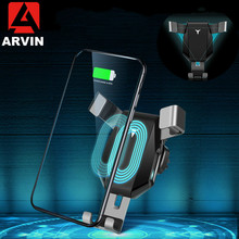 Arvin Wireless Charger Car Phone Holder For iPhone 8 X XR XS Max Samsung S9 Universal Gravity Fast Wireless Air Vent Mount Stand arvin wireless charger car phone holder for iphone 8 x xr xs max samsung s9 universal gravity fast wireless air vent mount stand