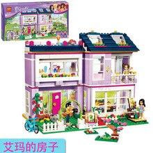 Bela 10541 Friends Emma House Villa Minifigures Building Block Bricks Toys Action Figure Kids Christmas Gifts