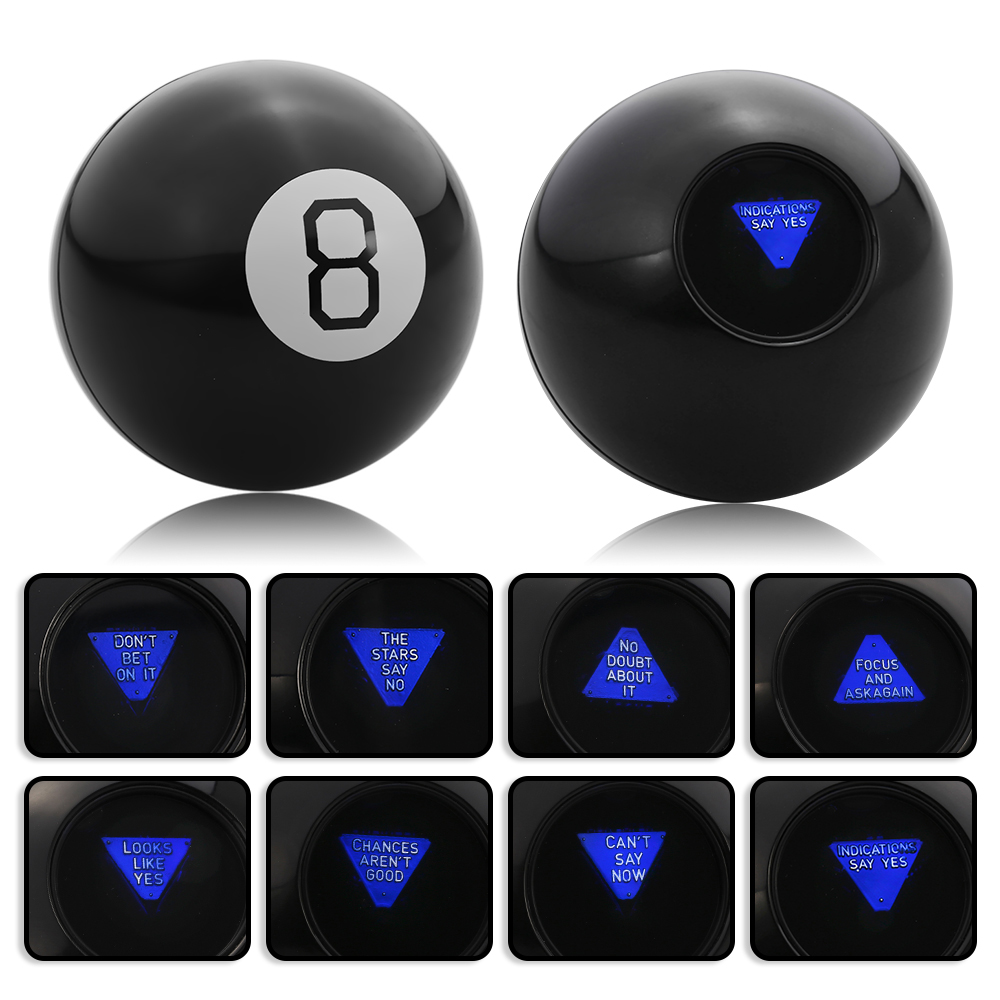 Black 8 Magic Predict Ball Fun Spherical Magic Educational Learning Toys for Kid Children Magic Tricks Classic Toys