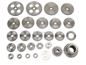 Image 3 - 27pcs 미니 선반 기어 CJ0618 348B 금속 절단 기계 기어 금속 기어 키트 (미터 및 제국)