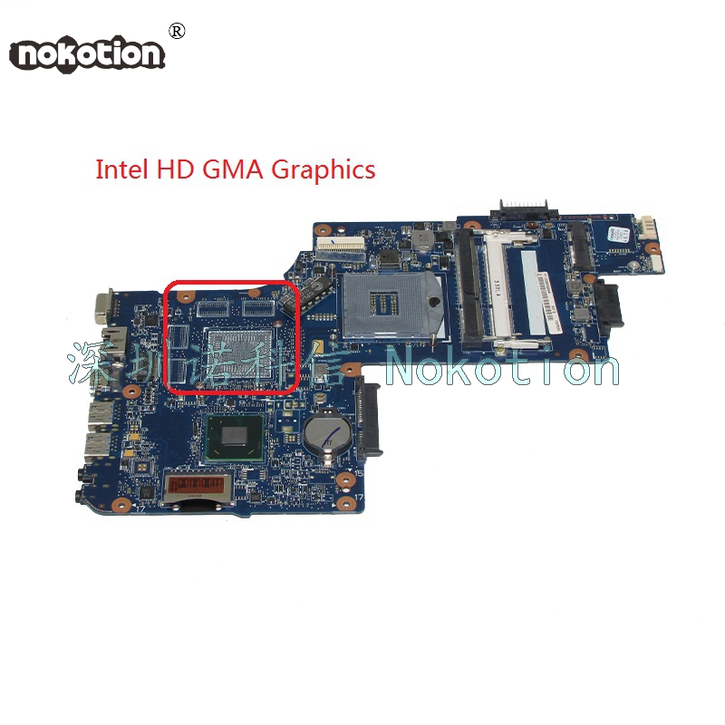 NOKOTION New H000051540 For toshiba satellite C850 Laptop motherboard HM76 intel HD GMA Graphics sheli v000275560 laptop motherboard for toshiba satellite c850 c855 l850 l855 6050a2541801 uma hd 4000 hm76 main board works