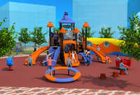 CE,ISO,TUV customized holiday resorts playground structure small tube slide kid qualitied outdoor play equipment YLW-OUT171051